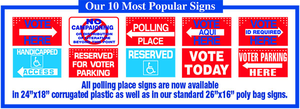 Top 10 Polling Place Signs